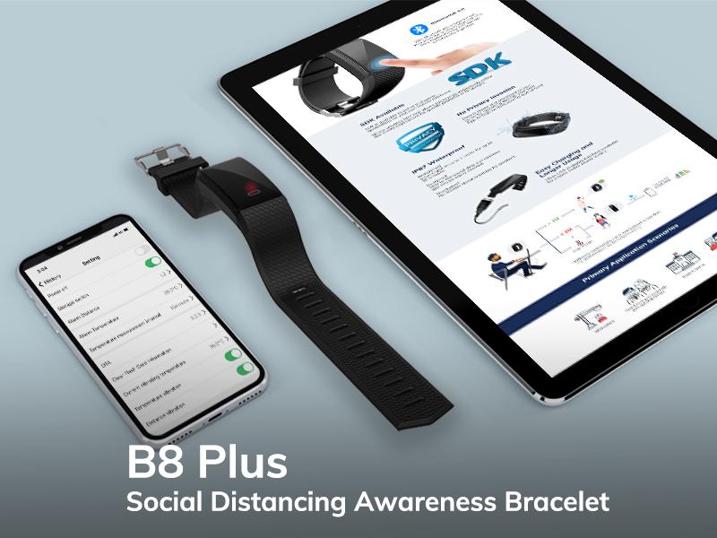 Work Away From Risk with Minew B8 Plus Bracelet