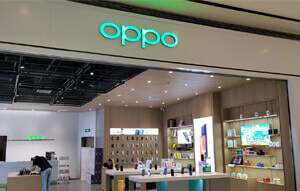 MINEW ESL solution cooperated with OPPO Changsha to build a mobile smart store